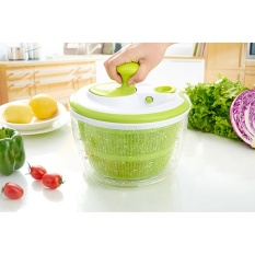 Beli Leegoal Salad Spinner With Pouring Spout Vegetable Washer System 5L Large Capacity Vegetables Dryer Washer Sieve Strainer Colander Basket Green Intl Dengan Kartu Kredit