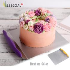 Diskon Leegoal Transfer Kue Kue Nampan Stainless Steel Alat Memindahkan Piring Kue Alat Pengangkat Perak And Kuning Warna Acak