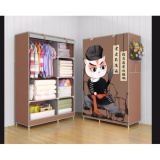 Toko Lemari Baju 2 Sisi 3D Coklat Online