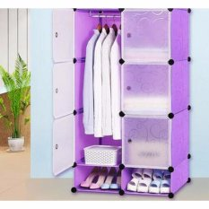 SKN Lemari Baju Plastik DIY 6 Pintu Bongkar Pasang