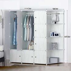 lemari baju portable rak susun minimalis design bersih kuat besi