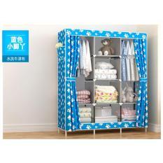 Lemari Baju / Rak Pakaian / Wardrobe Gy 28 Blue feet