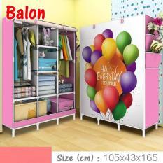 Lemari gantung baju lemari pakaian gantung lemari baju gantung lemari plastik anak lemari pakaian terbaru NF-3 Balon 3 Kolom