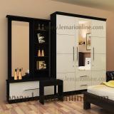 Harga Lemari Pakaian 3 Pintu Cermin Meja Rias Paket Gloss Benefit Furniture