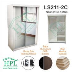Lemari Pakaian HPL 2 Pintu Sliding-LS2P-2C