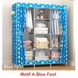 Ulasan Mengenai Lemari Pakaian Jumbo With Cover Kain Non Woven Multifunction Wardrobe Cloth Rack Size 130 X 45 X 170 Cm