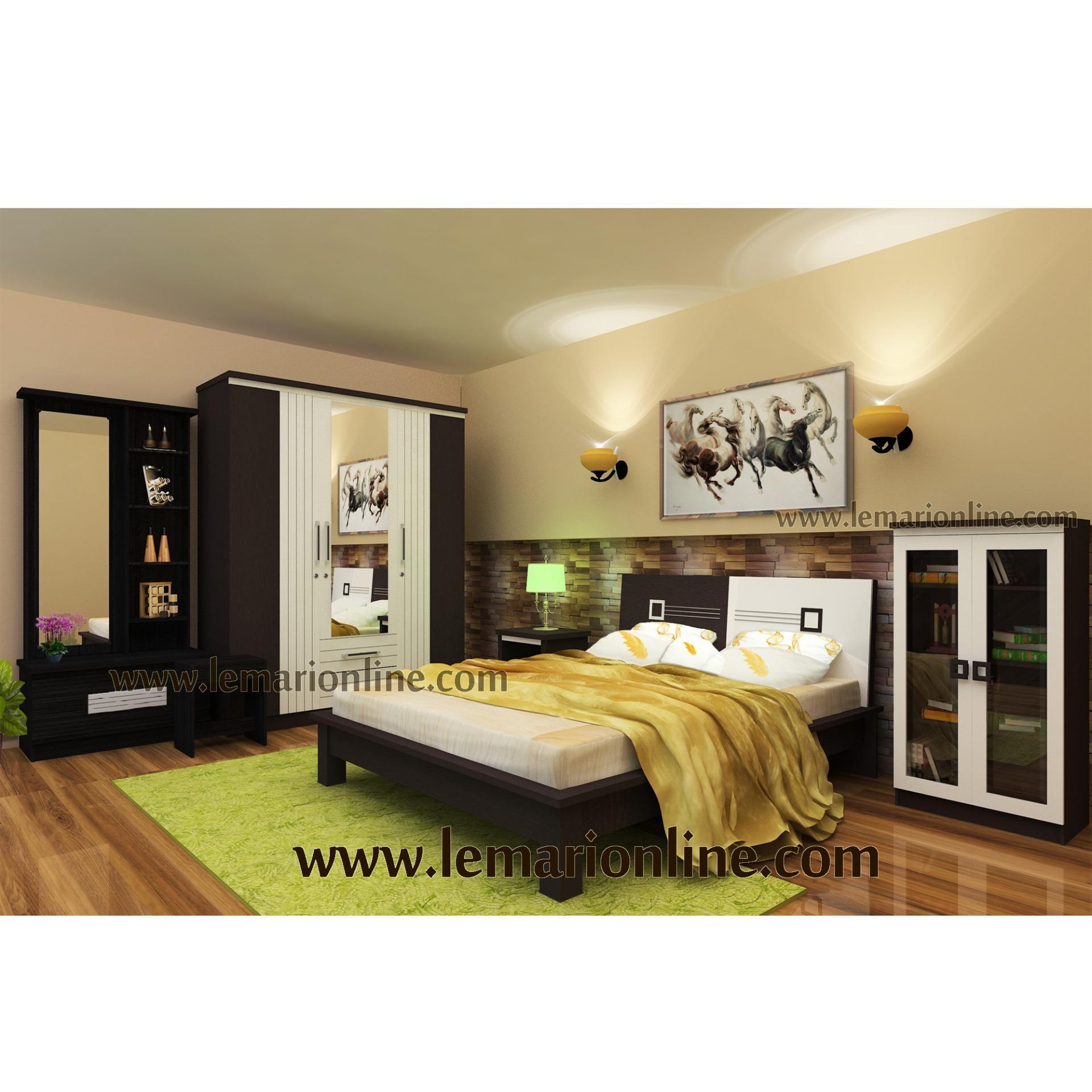 Lemari Pakaian, Meja Rias, Nakas, Ranjang, dan Lemari Buku (Bedroom Set)