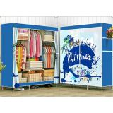 Lemari Pakaian Multifunction Wardrobe Cloth Rack With Cover Indonesia Diskon 50