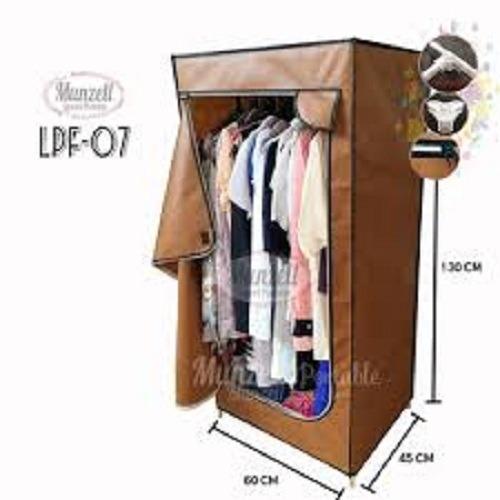 Lemari Pakaian Munzell LPF-07- Lemari Baju Gantung 1 Sekat Coklat