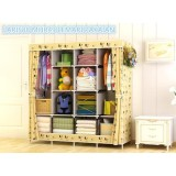 Beli Lemari Pakaian Portabel Multifunction Wardrobe Cloth Rack With Cover Mickey