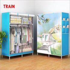 Allunique Lemari Pakaian Portable 2 Layer - Train