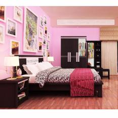 Lemari Pakaian, Ranjang, Nakas, Meja Rias (Bedroom Set Pink)