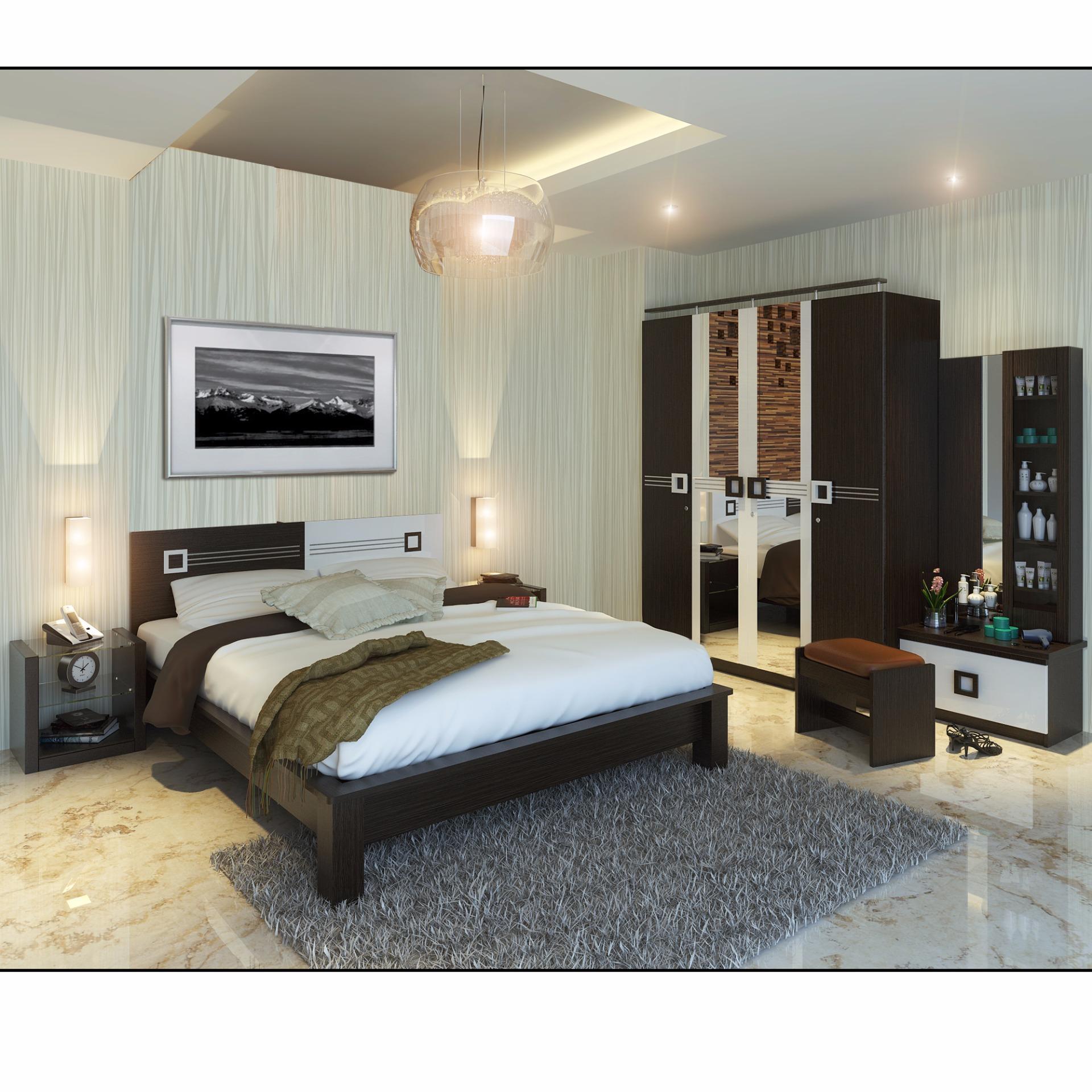 Lemari Pakaian, Ranjang, Nakas, Meja Rias (Bedroom Set Platinum)