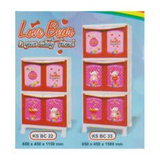 Lemari Plastik Kingstar KS BC 33 Love Bear