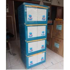 Lemari Plastik Miniclub Boneka 4 Susun By Lis Shop.
