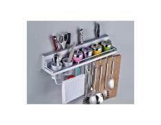 LEMARI/ RAK : 267 Rak Dinding Dapur Aluminium size 60x12,5x10cm