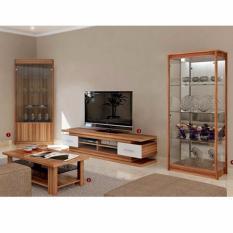 Lemari Sudut Kaca, Meja TV, Meja Tamu, Lemari Hias (Livingroom Set)