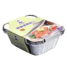 Lemon 5 Pcs 400 Ml Sanitasi Grills Kompatibel Aluminium Kertas Perak Piring Panci Segel dengan Tutup untuk BBQ Barbecue Panggang Membuat makanan Fre-Internasional