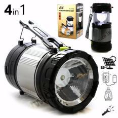 Lentera camping Rechargeable Light 6 LED dengan Senter/ Lampu Camping Tenaga Solar