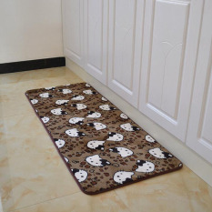 Leopard Kucing Dicetak Dapur Lantai Tikar Anti-slip Karpet untuk Kamar Tidur Ruang Tamu Dustproof