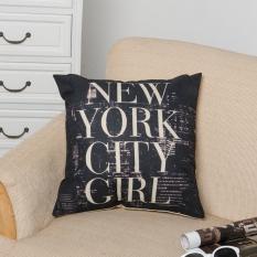 Diskon Produk Pola Sprei Katun Bantal Kasus Surat Pinggang Melempar Bantal Sofa Menutupi Kota New York Gadis