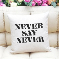 Letter Printing Dyeing Sofa Bed Home Decor Pillow Case Cushion Cover WH - intl