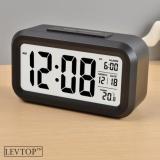 Spesifikasi Levtop Lcd Led Digital Alarm Clock Temperature Calendar Malam Otomatis Sensor Dengan Backlit Intl Murah