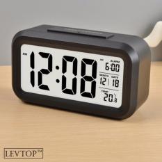 Jual Levtop Lcd Led Digital Alarm Clock Temperature Calendar Malam Otomatis Sensor Dengan Backlit Intl Di Bawah Harga