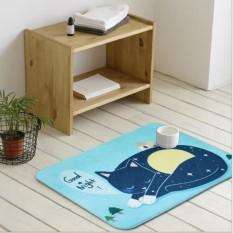 Leyi Good night series meow star human ground mat entrance door entrance door to doorway doormats, waterproof and wear-resistant 50CM X 120CM - intl