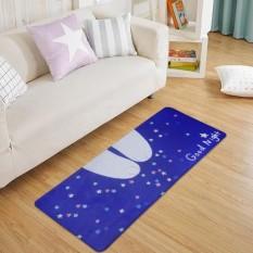Leyi Good night series meow star human ground mat entrance door entrance door to doorway doormats, waterproof and wear-resistant 60CM X 90CM - intl