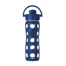 Jual Lifefactory 16Oz Glass Bottle Flip Cap 475Ml Midnight Blue Branded