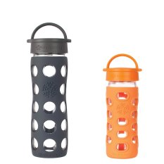 Spesifikasi Lifefactory Glass Bottle Carbon Orange Package Lifefactory