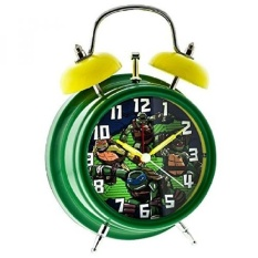 Light-Up Twin Bell Teenage Mutant Ninja Turtles Alarm ClockGreen/Yellow - intl