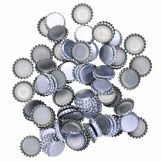 Lightning Power-Pack of 144 New Beer Bottle Caps Oxygen Absorbing Seal Silver Crown Caps For Home Brew Crafts(Silver) - intl