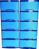 Spek Lily Lemari Plastik Motif Rotan 5 Susun Biru