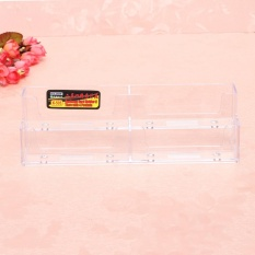 Lipstick Clear Penghapus Kantor Counter Acrylic Card Holder Stand Display-Intl