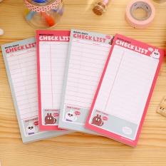 Daftar To Do List Planner Stiker Kertas Sticky Notes Stationeryoffice Persediaan-Intl