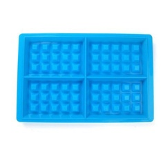 Live Birds 4 Cavity Waffle Silicone Mold Non-stick Cake Chocolate Bakeware Baking Tools Specification:blue - intl