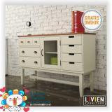 Cuci Gudang Livien Ivory Vintage Dresser Heim Series Lemari Dapur