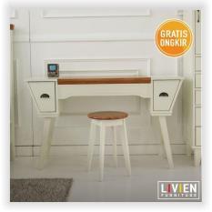 Beli Livien Ivory Vintage Vanity Desk Heim Series Meja Rias Yang Bagus