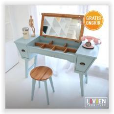 LIVIEN - Meja Rias Ivory Vintage Vanity Desk Heim Series