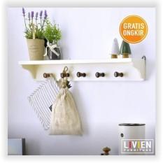 LIVIEN-Rak Dinding Story (Cream White)