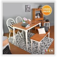 Toko Livien Set Meja Makan 2 Kursi Dan 1 Bench 120 Livien Furniture Jawa Timur