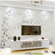 Ruang Tamu Wallpaper 10*0.53 M DIY Non-woven Dinding Kertas HD Floral Wall Art Wallpaper untuk Rumah Decor-Intl