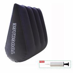 LKN Inflatable Bantal Segitiga Couple Game Posisi Cushion Furnitur Multifungsi Tahan Bantal-Intl