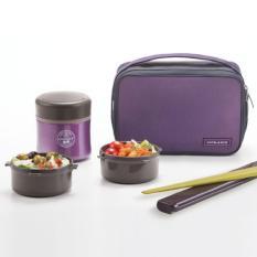 Spesifikasi Lock Lock Lunch Box Tahan Panas For Rice Or Sop Mime Size 350Ml Violet Free Gift Sports Handy Bottle 700Ml Beserta Harganya