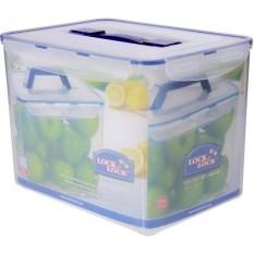 Spesifikasi Lock Lock Food Container Hpl889 Rectangular Tall Container 12L W Handle Tray Yang Bagus Dan Murah