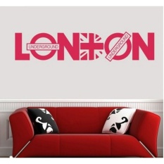 London City underground Quote vinyl Wall Sticker Art Decal PosterWallpaper Mural DIY Home Decor vinilo pegatina adesivo parede - intl