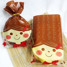 long hair doll bread food gift favor cellophane cello bags with twist tie - intl