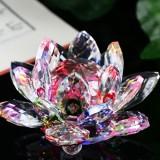 Promo Lotus Crystal Kaca Gambar Paperweight Ornament Feng Shui Koleksi Dekorasi Intl Not Specified Terbaru